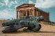 temple de la concorde et statue d'icare vallée des temples sicile