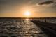 coucher de soleil à syracuse sur le port
